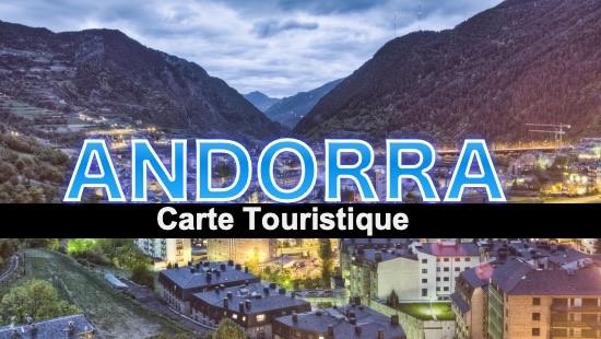 Carte touristique d'Andorre