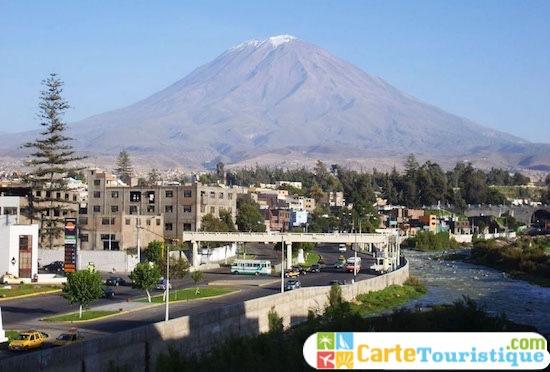 Carte touristique d'Arequipa