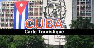 Carte touristique de Cuba