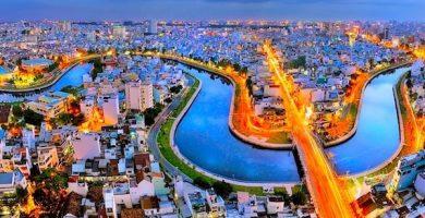 Carte touristique de Ho Chi Minh