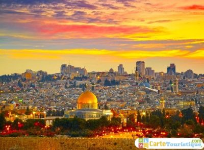 Carte touristique de Jérusalem