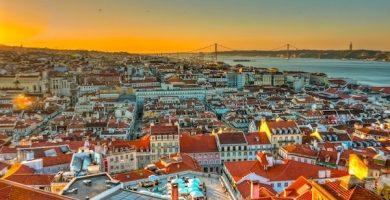 Carte touristique de Lisbonne