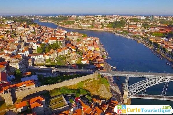 Carte touristique de Porto