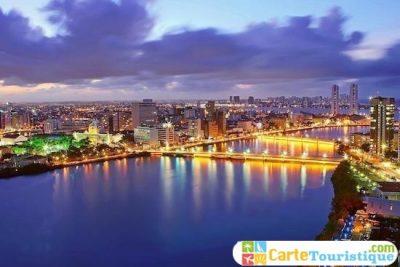Carte touristique de Recife
