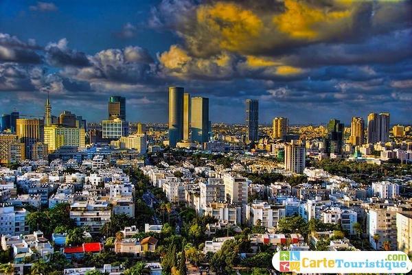 Carte touristique de Tel Aviv