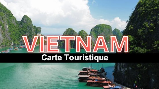Carte touristique du Vietnam