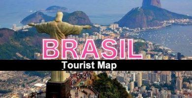 Carte touristique du Brésil