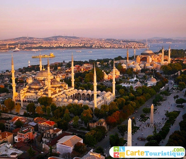 carte touristique Istanbul