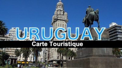 carte touristique uruguay